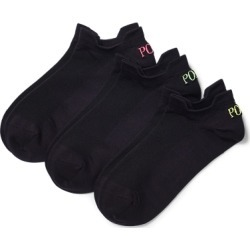 Ralph Lauren Microfiber Sport Sock 3-Pack in Black - Size One Size found on Bargain Bro India from Ralph Lauren for $13.50