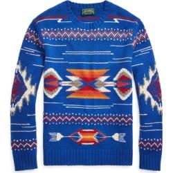 Ralph Lauren Southwestern Wool Sweater in Royal Multi - Size S