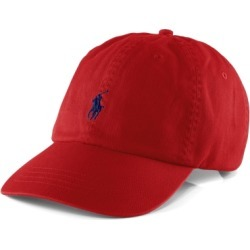 Ralph Lauren Cotton Chino Ball Cap in Rl2000 Red/Blue - Size One Size found on Bargain Bro from Ralph Lauren for USD $34.20