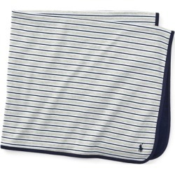 Ralph Lauren Striped Cotton Blanket in Grey - Size One Size found on Bargain Bro India from Ralph Lauren for $29.50