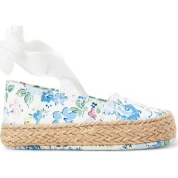 Ralph Lauren Bowman Floral Bow-Front Shoe in Blue Floral - Size 0 (0-6 WKS) found on Bargain Bro India from Ralph Lauren for $36.00