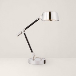 Ralph Lauren Alaster Task Lamp in Polished Nickel - Size One Size found on Bargain Bro from Ralph Lauren for USD $911.24