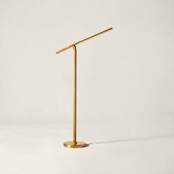 Ralph Lauren Barrett LED Boom Floor Lamp in Natural Brass - Size One Size found on Bargain Bro from Ralph Lauren for USD $1,519.24
