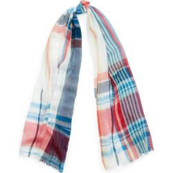 Ralph Lauren Lisa Plaid Cotton Scarf in Cream - Size One Size found on Bargain Bro Philippines from Ralph Lauren for $65.00