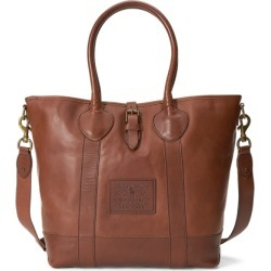 Ralph Lauren Heritage Tumbled Leather Tote in Saddle - Size One Size found on Bargain Bro Philippines from Ralph Lauren for $595.00