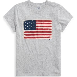 Ralph Lauren Flag Jersey Graphic T-Shirt in Cobblestone Heather - Size L found on Bargain Bro from Ralph Lauren for USD $51.68