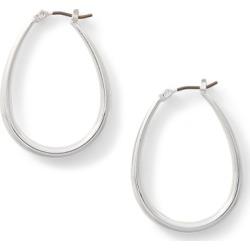 Ralph Lauren Teardrop Metal Hoops in Silver - Size One Size found on Bargain Bro from Ralph Lauren for USD $24.32