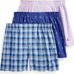 Ralph Lauren Classic Boxer 3-Pack in Stripe/Navy/Pink - Size L found on Bargain Bro from Ralph Lauren for USD $32.30