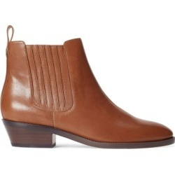 Ralph Lauren Erica Leather Bootie in Deep Saddle Tan - Size 6 found on Bargain Bro Philippines from Ralph Lauren for $140.00