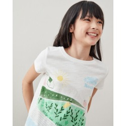 Girls Meadow Print T-shirt found on Bargain Bro from Roots Canada for USD $18.29