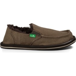 Sanuk Kids' Vagabond Chill Slip-On Shoes in Brown, Size 1