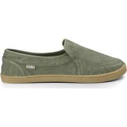 Sanuk Women's Pair O Dice Shoes in Olive, Size 7