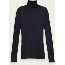Scotch & Soda Wool-blend rib knitted turtleneck found on Bargain Bro UK from Scotch & Soda (UK)