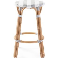 Riviera Backless Counter Stool - Striped found on Bargain Bro India from Serena and Lily for $248.00