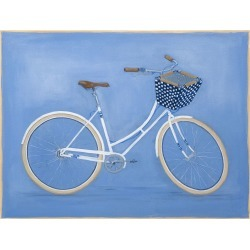 White Bike with Basket  by Carol Saxe