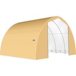 ShelterTech SP Series Round Shelter, 28 ft. x 30 ft. x 16 ft. Heavy Duty PVC 14.5 oz. Tan found on Bargain Bro from ShelterLogic for USD $4,992.16