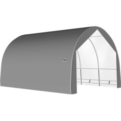 ShelterTech SP Series Round Shelter, 18 ft. x 30 ft. x 13 ft. Heavy Duty PVC 14.5 oz. Gray found on Bargain Bro Philippines from ShelterLogic for $5175.78
