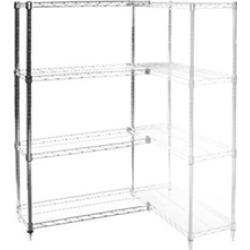 "30""d x 48""w Wire Shelving Add Ons w/ 4 Shelves"