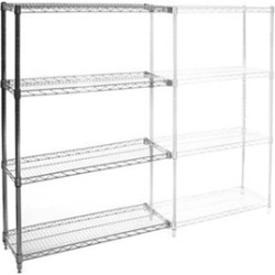 "12""d x 30""w Wire Shelving Add Ons w/ 4 Shelves"