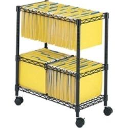 2 Tier Rolling File Cart