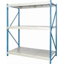 "Hallowell Bulk Rack w/ Solid Steel Decks - 72""w x 87""h"