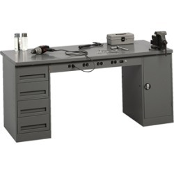 Modular Electric Workbench w/ Drawer Unit & Cabinet