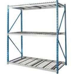 """Hallowell Bulk Rack w/ Wire Decks - 72""""w x 123""""h"""