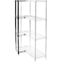 "18""d x 18""w Wire Shelving Add Ons w/ 4 Shelves"