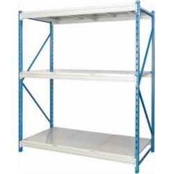 "Hallowell Bulk Rack w/ Solid Steel Decks - 60""w x 123""h"
