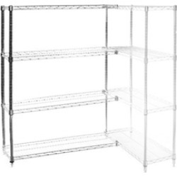 "24""d x 60""w Wire Shelving Add Ons w/ 4 Shelves"