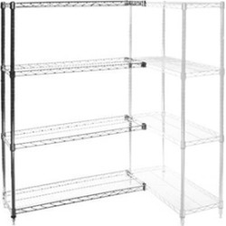 "18""d x 54""w Wire Shelving Add Ons w/ 4 Shelves"