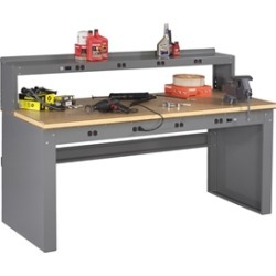 Electric Workbench w/ Electric Riser & Compressed Wood Top