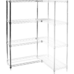 "14""d x 42""w Wire Shelving Add Ons w/ 4 Shelves"