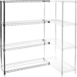 "12""d x 18""w Wire Shelving Add Ons w/ 4 Shelves"