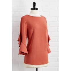 dont be dramatic sleeve top - Brown