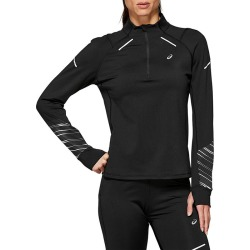 Women's Lite-Show 1/2-Zip Top, Black, Size Large | Asics found on MODAPINS from Sporting Life for USD $68.27