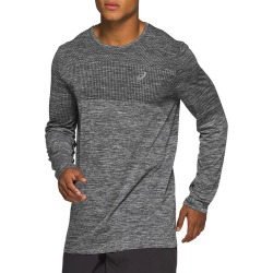 Men's Race Seamless Long Sleeve Top, Dark Heather Grey, Size XL | Asics found on MODAPINS from Sporting Life for USD $54.96