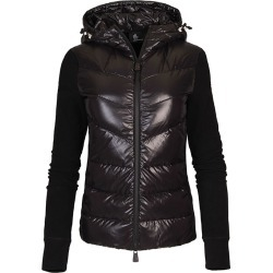 Women's Hybrid Knit Hooded Jacket, Black, Size Small | Moncler Grenoble found on Bargain Bro India from Sporting Life for $704.30