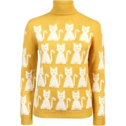 Women's Cat High Neck Sweater, Yellow, Size XS | Moncler Grenoble found on Bargain Bro India from Sporting Life for $804.37