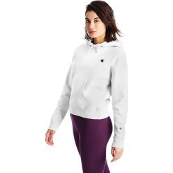 Women's Reverse Weave C Logo Pullover Hoodie, White, Size XL | Champion found on Bargain Bro from Sporting Life for USD $45.55