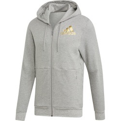 Men's Sport ID Full-Zip Hoodie, Light Heather Grey, Size Small | adidas found on Bargain Bro from Sporting Life for USD $54.23