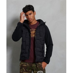 Men's Sonic City Hybrid Zip Jacket, Black, Size Small | Superdry found on Bargain Bro India from Sporting Life for $123.16