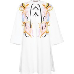 Women's Embroidered Lace-Up Dress, White, Size Small | Emilio Pucci found on MODAPINS from Sporting Life for USD $1924.33