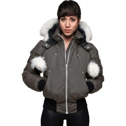 Women's Debbie Bomber Jacket, Charcoal, Size XS | Moose Knuckles found on Bargain Bro from Sporting Life for USD $543.60