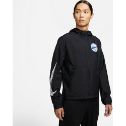 Men's Essential Wild Run Jacket, Black, Size Medium   Nike found on Bargain Bro Philippines from Sporting Life for $86.94