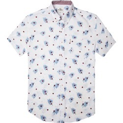 Men's Scattered Palm Shirt, White, Size Small | Ben Sherman found on MODAPINS from Sporting Life for USD $92.93