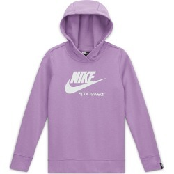 Junior's Girl's Sportswear Heritage Pullover Hoodie, Purple, Size Small | Nike found on Bargain Bro India from Sporting Life for $37.68