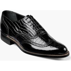 Dayton Stacy Adams Men's Dayton Wingtip Poromeric Patent and Leather Classic Oxford found on Bargain Bro India from Stacy Adams for $120.00