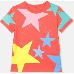 Stella McCartney - Multicolour Stars Cotton T-shirt, Flame, Size: 2 found on Bargain Bro UK from Stella McCartney UK