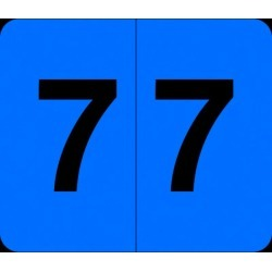 """Barkley VA  Hospital Compatible Numeric """"7"""" Labels, Laminated Stock, 1/2"""" X 1"""" Individual Numbers - Roll of 1000"""